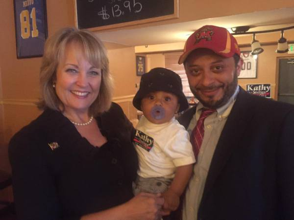 Delegate Szeliga w/MrPolitics and 9-month old son Caleb